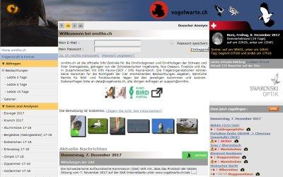 "Online-Datenbank ""ornitho"""
