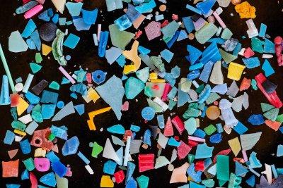 Mikroplastik findet man in allen möglichen Farben und Formen.; Bildquelle: Bernd Nowack / Empa