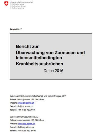 Zoonosenbericht 2016 erschienen