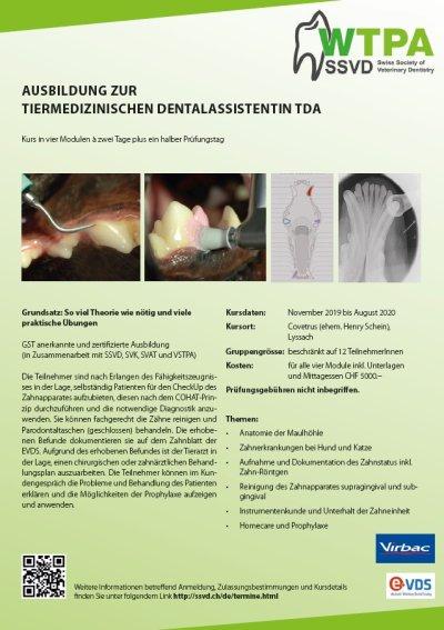 Ausbildung zur tiermedizinischen Dentalassistentin 2019/2020