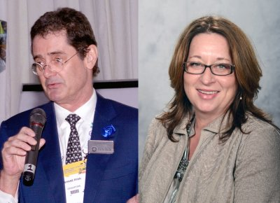 Dr. Shane Ryan and Dr. Melinda Merck, co-chairs of the WSAVA´s Animal Wellness and Welfare Committee; Bildquelle: WSAVA